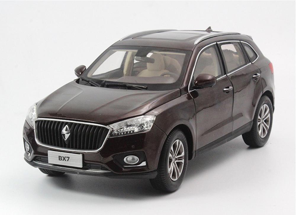 1/18 весы BORGWARD BX7 SUV, коричневый литой автомобиль, модель, коллекция игрушек