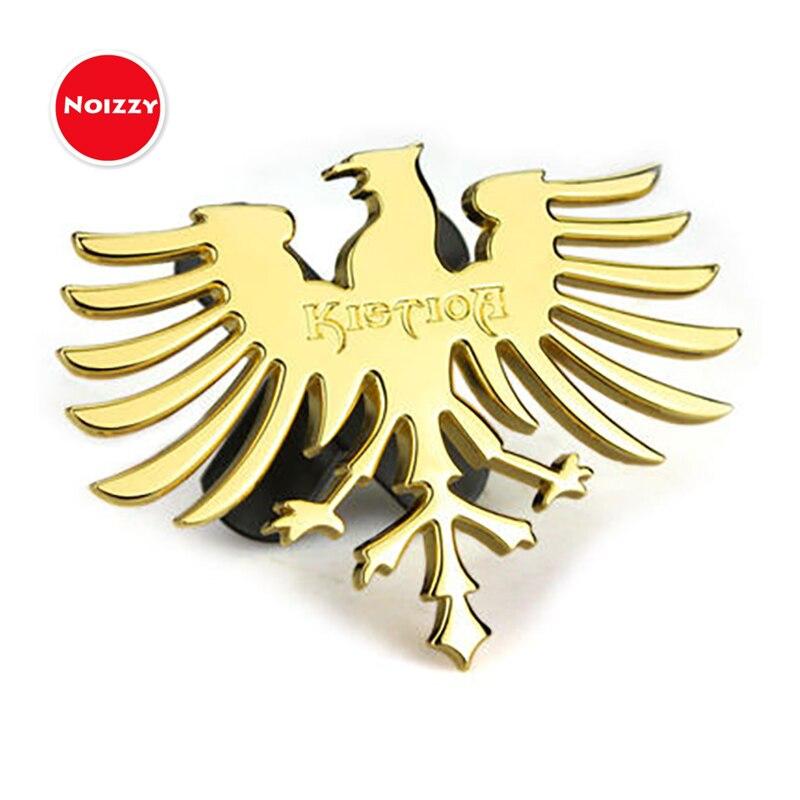 2PCS Golden Wing Metal Badge Emblem Sticker Logo Decal Premium Car Motors Fly 3D