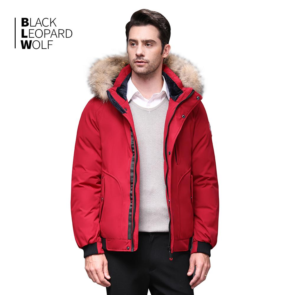 Blackleopardwolf 2019 Winter Jacket Men Coat Luxury Alaska With A Fur Collar Detachable Thick Winter Jacket Top Red Color BL-819