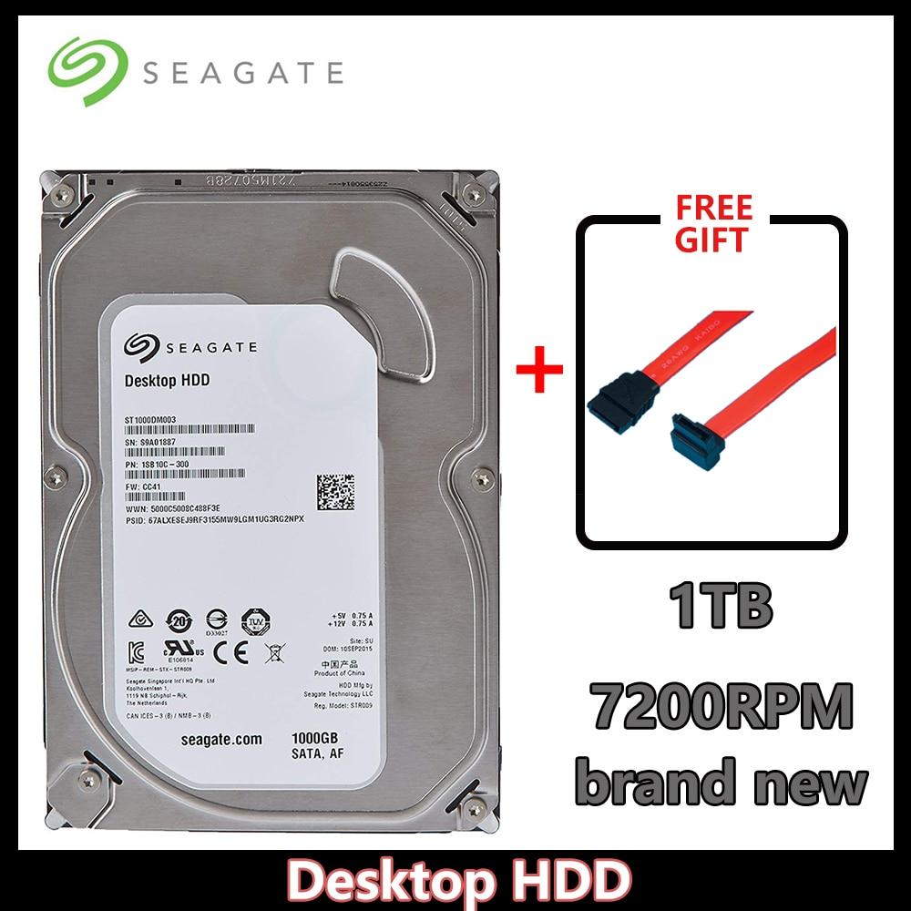Seagate 1TB HDD De Desktop SATA 6 64MB de Cache 3.5-Polegada Gb/s 7200 RPM Interno Unidade Nua (ST1000DM003)