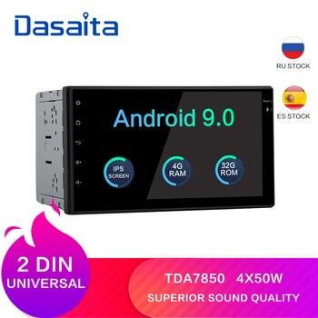 "Dasaita 7 ""Car Radio Android 9,0 Universal 2 Din Pantalla táctil IPS HDMI GPS Navigator 1024*600 64GB ROM"