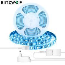 Светодиодный светильник BlitzWolf, водонепроницаемый светодиодный светильник с пультом дистанционного управления и регулируемой яркостью, 2 м/5 м, RGBW
