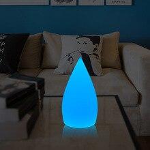 Светодиодный люминесцентный светильник в форме капли воды, заряжаемый Водонепроницаемый Анти-осенний декоративный Настольный светильник, настольная лампа, барная лампа, красочный светильник