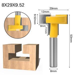 """Image 3 - Enrutador de ranuras en T y t track de alta calidad, caña para trabajar la madera, cortador de cinceles de 8 """"y 8"""", 1 Uds."""