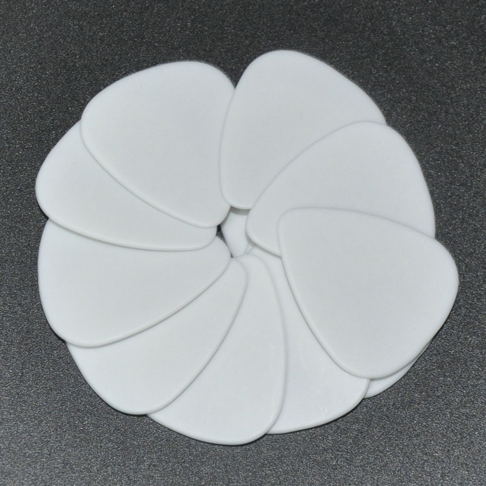 Lots Of 100pcs Solid White 1mm 1.5mm Heavy Gauge Delrin Guitar Bass Picks Plectrums