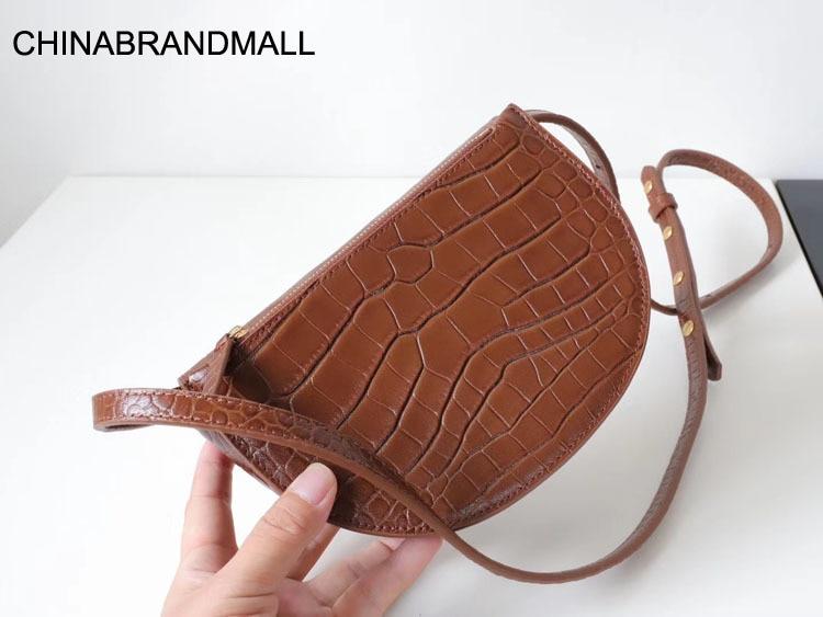 Genuine Leather Crocodile Pattern Fashion Belt Bag For Women