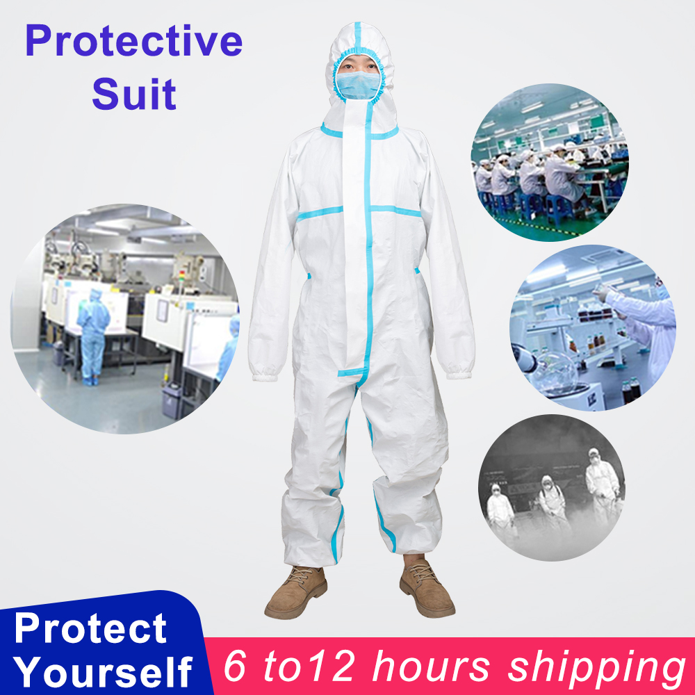 Protective Coverall Anti-epidemic Antibacterial Personal Isolation Suit Protective Clothing Dust-proof Suits Anti Droplet Static