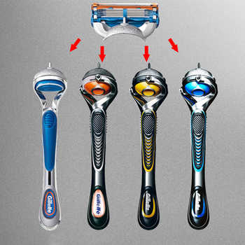 Men Razor Blade Shaver Machine for Shaving Blades Gillette Fusion 5 PROGLIDE Stainless Steel Straight Razor with 4pcs Gift Blade