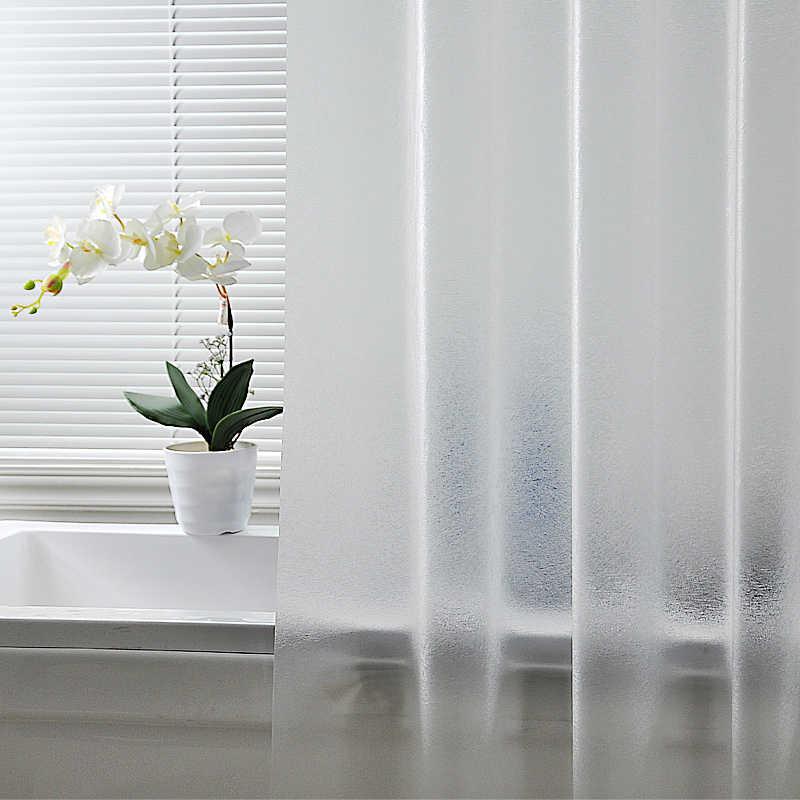 Wasserdicht Transluzenten gebürstet Dusche Vorhang Bad Vorhang Kunststoff Polyester Punch-freies Verdickt Luxus Bad Vorhang W/Haken