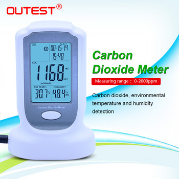 OUTEST GM8802 Handheld Carbon Dioxide Detector CO2 Monitor Gas Detector Alarm Temperature Humidity Tool