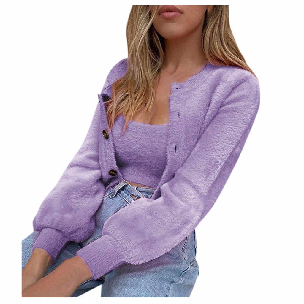 נשים סתיו החורף מזדמן ארוך שרוול V צוואר כפתור צמרות בסוודרים סווטשירט נשי אימונית סווטשירט roupas Femininas