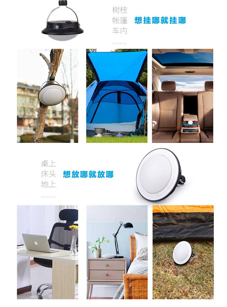 acampamento ao ar livre luzes led tenda