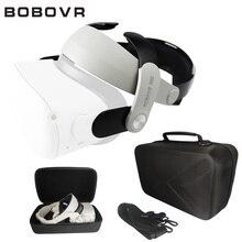 Para oculus quest 2 óculos eva saco de armazenamento à prova de choque à prova dvr água vr óculos acessórios bobovr m2 halo cinta