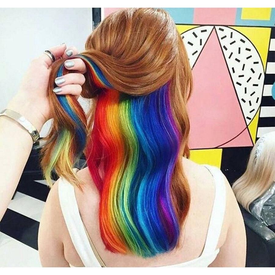 Color Seamless Hair Extension Highlights Wig Hair Piece Short Hair Extension Bundle Piece Seamless Straight Hair Headwear