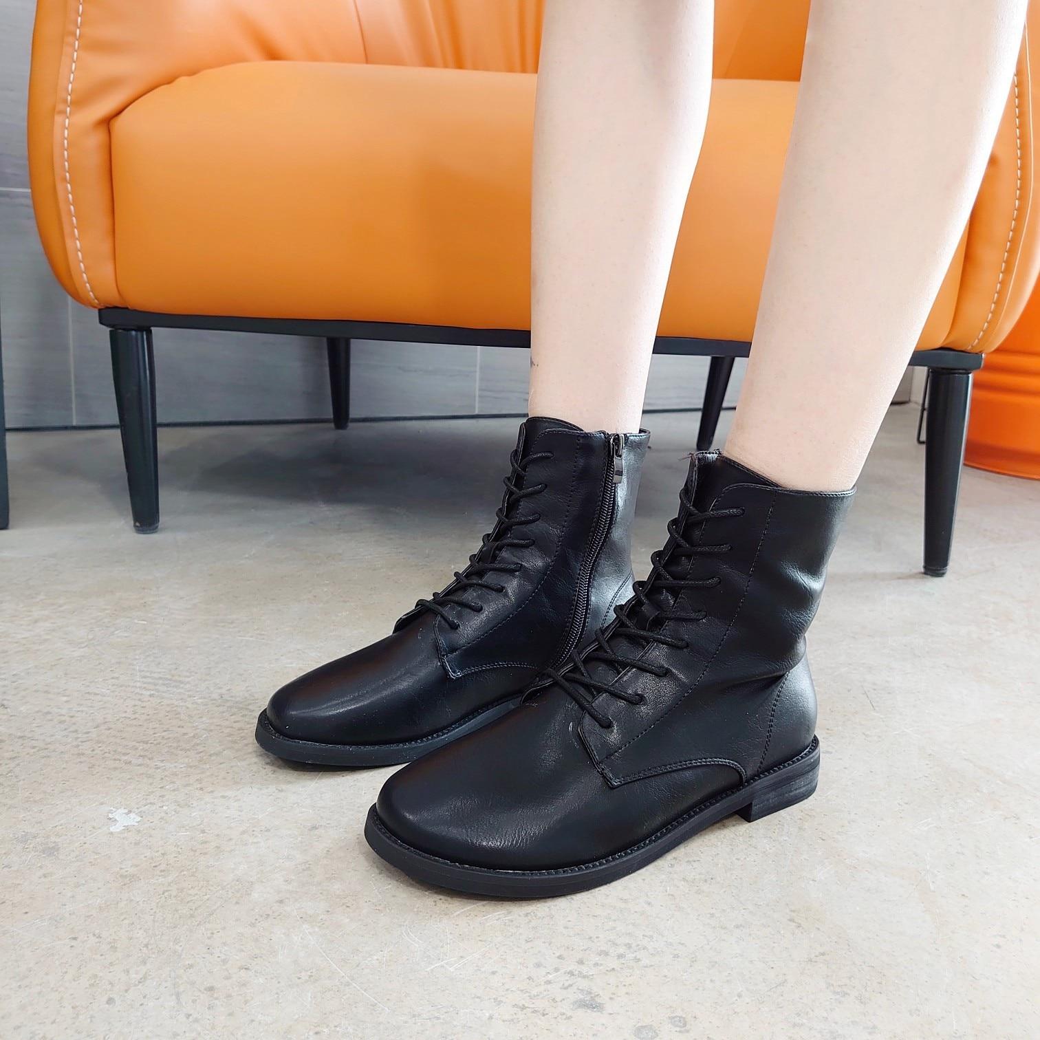 Martin Boots Children 2019 Autumn New Style British-Style Thin Cashmere Trendy Shoes Online Celebrity Versatile Single Boots Aut