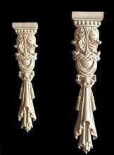 2 шт 38x8 см Европейский стиль мебель клеймо Рим колонна резное