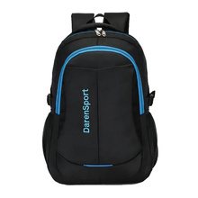 Simple Men Travel Backpack 2019 Casual Nylon Large Capacity Outdoor Sports Bag Lady Computer School Black Blue