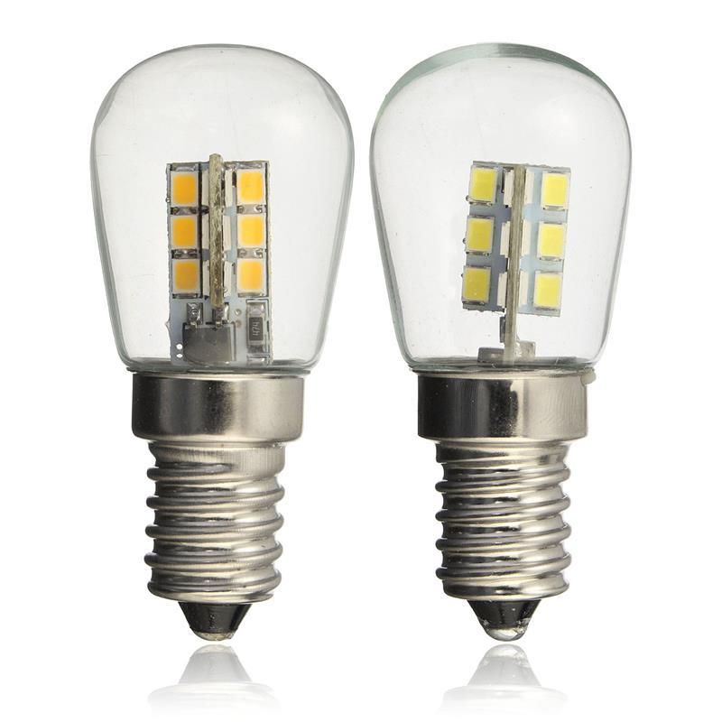 LED Bulb E14 3W AC220V 2835SMD 24LED Glass Shade 360 Degree Angle Lighting Warm/Cold White For Sewing Machine/Refrigerator