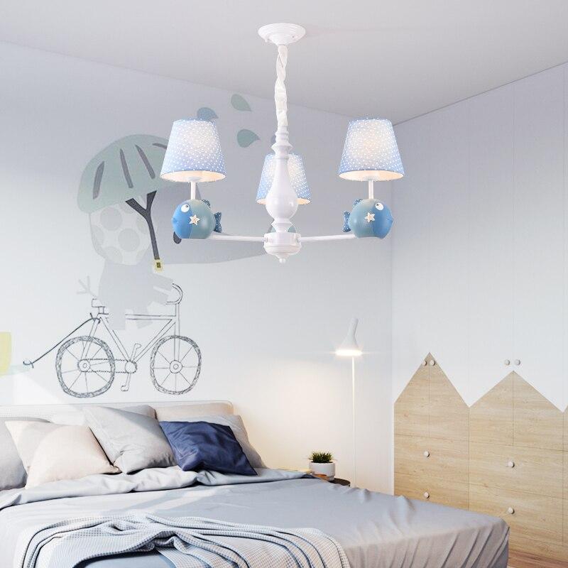 lustr pro osvětlení obývacího pokoje dětské lampy osvětlení dětská lampa dívka modrá Křišťálový lustr
