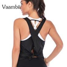 Спортивный топ одежда для йоги рубашка Женский Топ большого