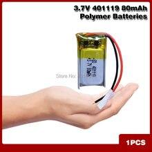 Polymer lithium-ionen batterie 3,7 V 401119 80mAh CE FCC ROHS MSDS qualität zertifizierung Ultra kleine batterie