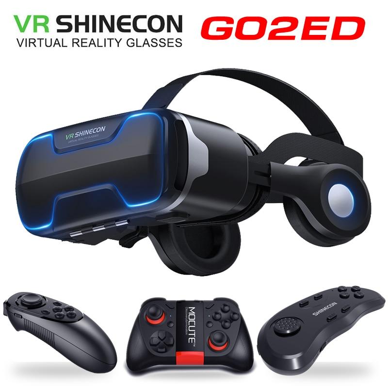 G02ED VR shinecon 8,0 версия для шлема виртуальной реальности, 3D очки VR, гарнитура для шлема, опциональное управление