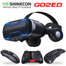 G02ED VR shinecon 8.0 wersja standardowa i wersja zestawu słuchawkowego wirtualna rzeczywistość 3D VR okulary hełmy zestawu słuchawkowego opcjonalnie controlle