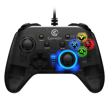 GameSir T4w Wired Controller USB Cable Turbo Function Dual Vibration Joystick Gaming Gamepads for Windows PC