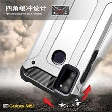 Samsung Galaxy M51 A21S kılıf kapak M21 M30S M01 A51 A71 M31 anti vurmak sağlam zırh silikon telefon case arka Samsung M51