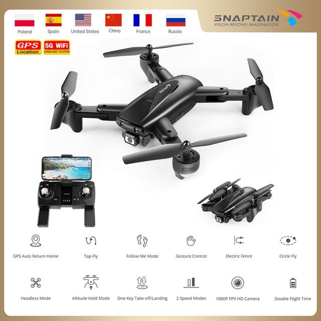 Snaptain spe500mq zangão câmera dron 1080p hd drones gps 5g wifi zangão dobrável fpv rc quadcopter altura segurar c crianças rc zangão 1