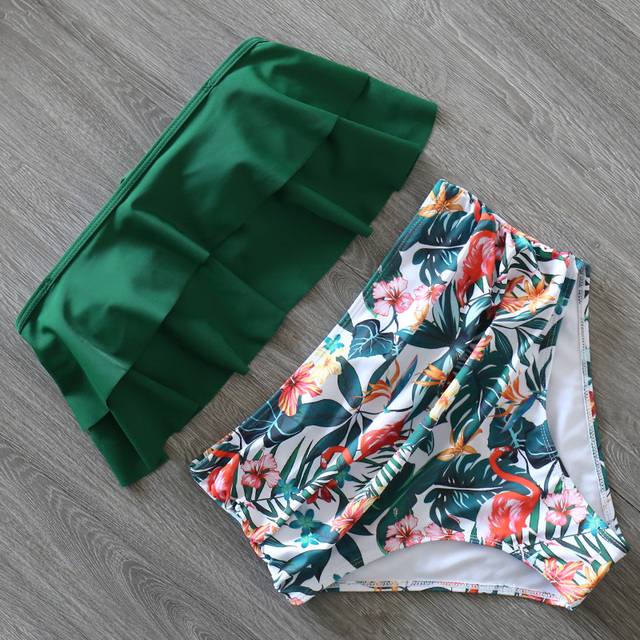 2020 nuevo traje de baño Bikini para mujer traje de baño de talle alto traje de baño de talla grande juego de Bikini estilo Push Up Vintage ropa de playa Biquini
