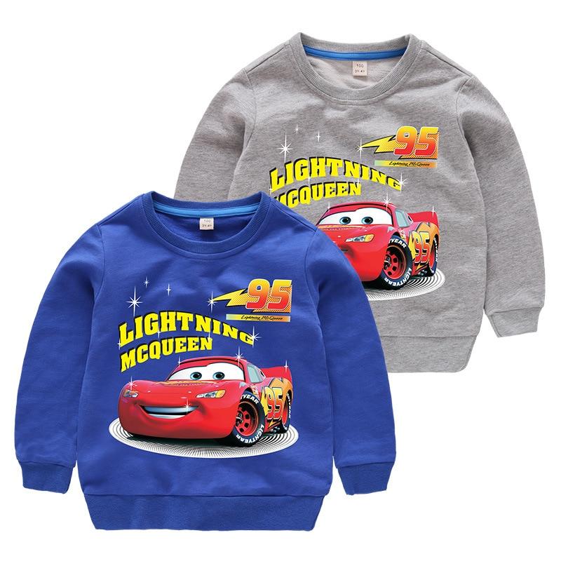 Disney Cars Sweatshirt Cotton Boy Sweatshirt Child Lightning McQueen Sweatshirt 1