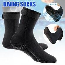 1 par de natação meias de mergulho wetsuit neoprene e náilon evitar arranhões aquecimento meias de mergulho para homens