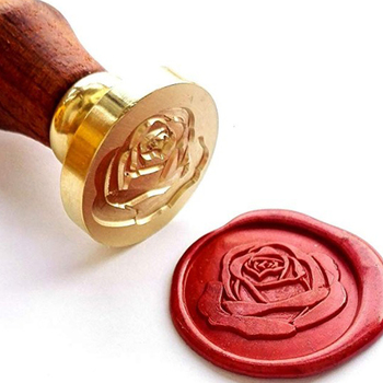 Retro Wood Handle Sealing Wax Stamp Love Flower Series Wax Seal Stamps Decorative Greeting Wedding Invitation Sealing Stamps vintage harry potter hogwarts custom picture logo luxury wax seal sealing stamp brass peacock metal handle gift set
