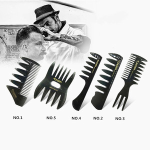 Men's Vintage Oil Head Comb New Oil Head Shape Partner Comb Wide Tooth Fork Comb Back Comb Men's Styling Tools(China)