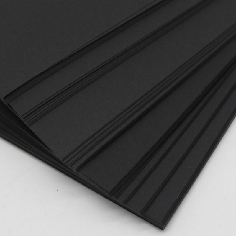 Sketchbook 350g Black Paper Handmade Drawing DIY Graffiti Paper A4 A3 4K 8K Black Greeting Postcard Cardboard Scrapbook Paper
