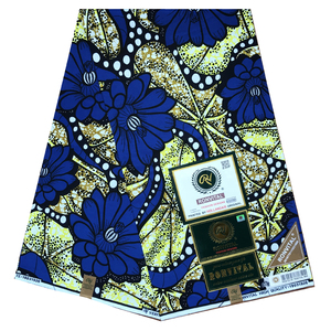 African fabric wax print cotton guaranteed real wax high quality pagne 6yards african ankara sewing fabric