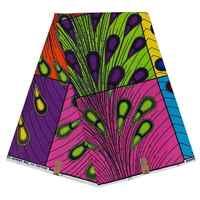 Tela africana de cera de algodón, 6 yardas, cera Real, ankar, tela africana para vestido de fiesta