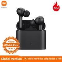 Xiaomi-auriculares inalámbricos Mi True 2 Pro con Bluetooth 5,0, dispositivo de audio TWS, con reducción activa del ruido y carga inalámbrica