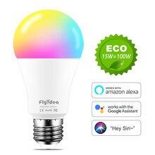 lampara led Bombillas WiFi E27 bombilla inteligente neon cambiante Siri Control voz asistente Google Alexa 100W decoracion equivalente iluminacion interior casa inteligente