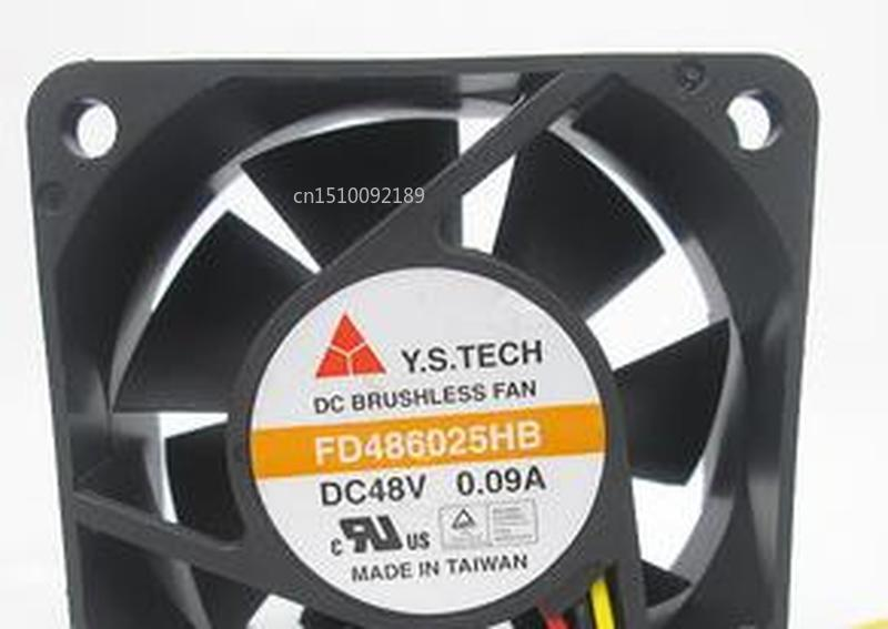 For Original  FD486025HB 6cm6025 48V0.09A 60*60*25MM 3 Wire Cooling Fan Free Shipping