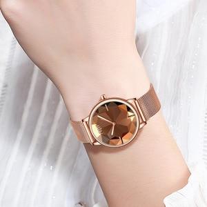 Image 2 - Civo Nieuwe Creatieve Horloges Vrouwen Luxe Waterdichte Rosegoud Quartz Dames Horloges Mesh Band Horloges Meisje Reloj Mujer 8109C