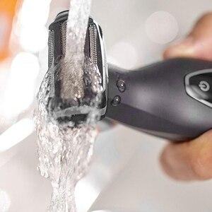 Image 3 - Profesyonel elektrikli tıraş makinesi saç giyotin vücut groomeing yüz tıraş makinesi elektrikli razor sakal düzeltici erkekler için vücut geri kiti