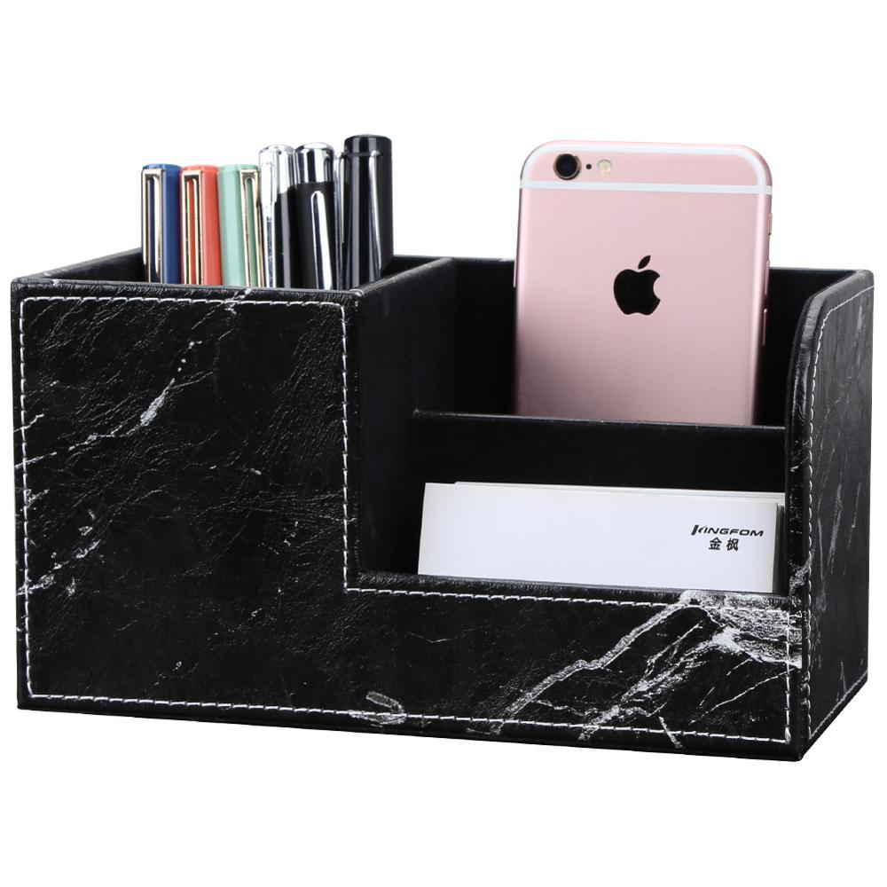 New Arrival Desk Organizer Marble Style Pen Pots Pencil Holder Mint Green/Blue Small Size Storage Box