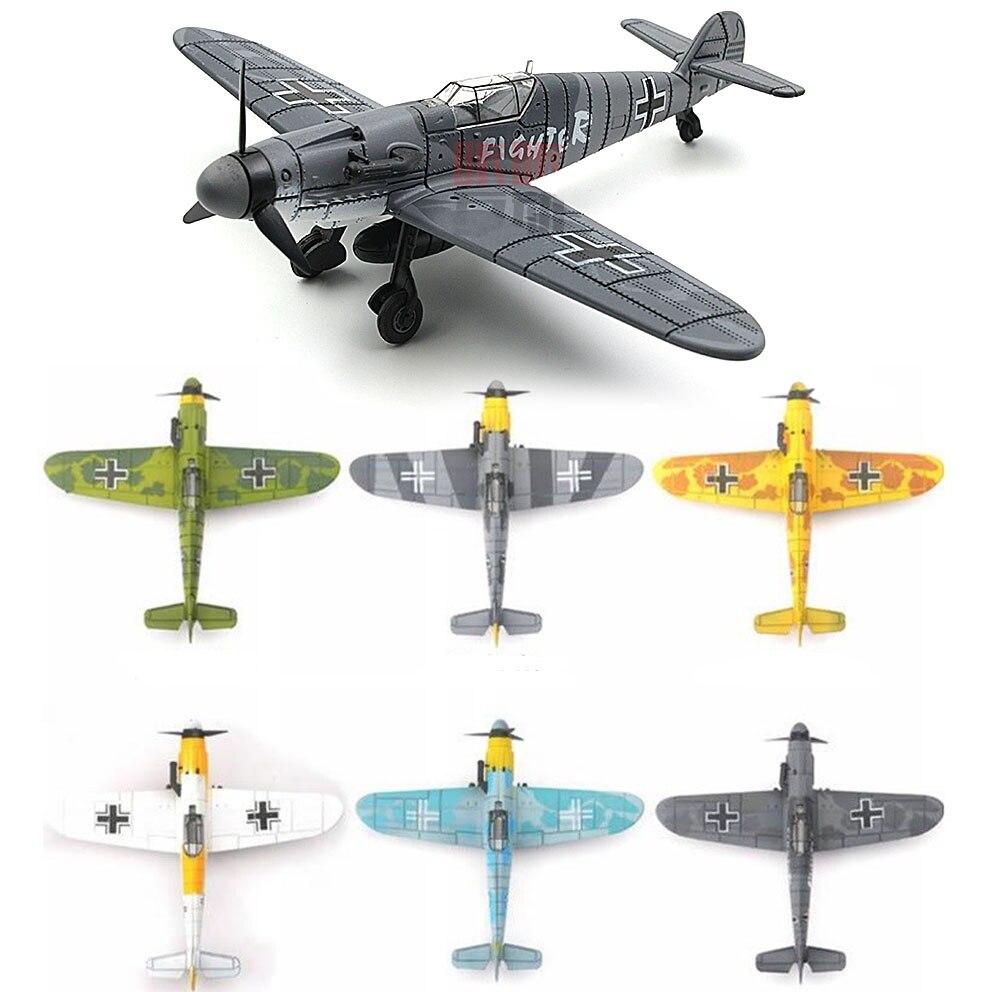 Toy Aircraft Assemble Fighter Model German Plastic Military World-War-Ii Children 1:48