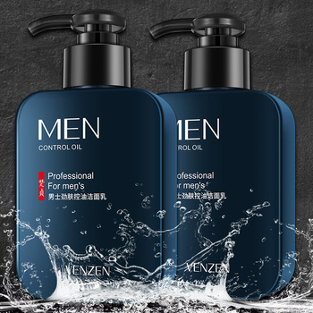 Venzen Men's Skin Oil-Control Facial Cleanser Clean and Refreshing Mild Oil-Control Men's Facial Cleanser Skin Care Products lumene sisu recover and protect facial oil