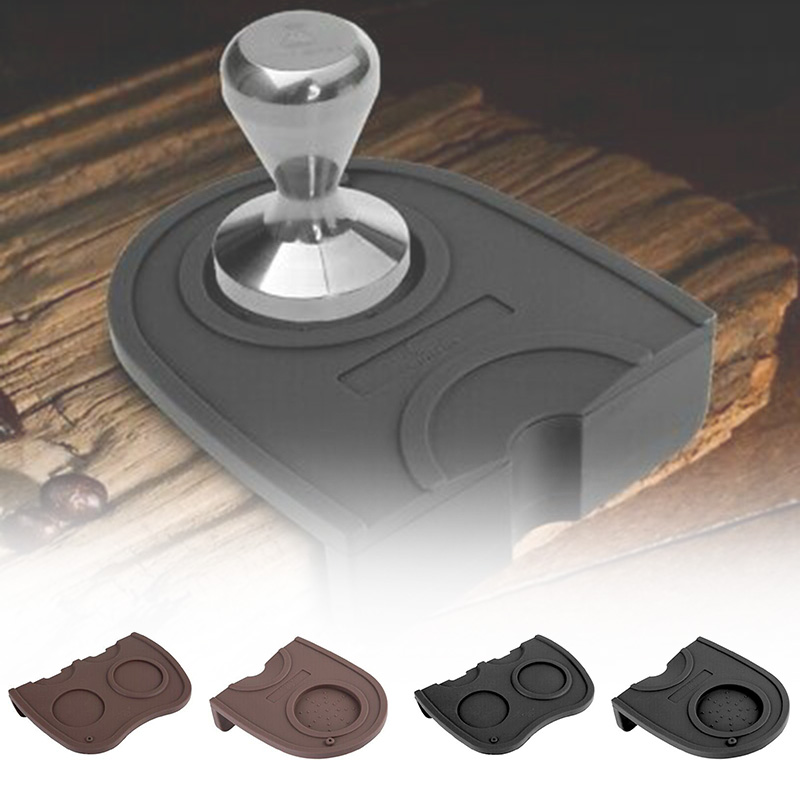 Coffee Mat Single Double Art Pen Tamper Tamping Rest Holder Safe Anti-slip 15.8*12.7 cm Home Coffee Mat for filling coffee