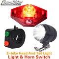 Фара для электровелосипеда в флэш-памяти светильник велосипеда светильник электрический фонарик для велосипеда набор Рожков задний свето...