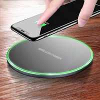 Fast and convenient charging pad wireless charger for iPhone X 8 Plus Samsung Galaxy Note 8 S9 S8 plus S7 S6 Edge desktop