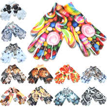 Winter Gloves Kitty Knitted Women Keep-Warm Print 3D 1-Pair Phone-Screen Comfortable